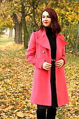 Kabáty - Vlnený kabát - červený - 7377627_