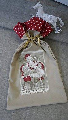 Úžitkový textil - Mikulášske vrecko na objednávku - 7378901_