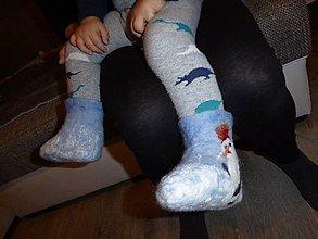 Topánočky - Vlnené čižmičky s motívom zimy - 7381064  66d2eed2f82