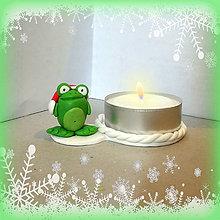 Svietidlá a sviečky - Svietniky na zákazku (žaba) - 7382399_
