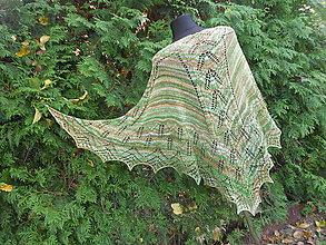 Šály - Jaspis a merino - pletený šátek - 7384897_