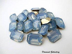 Galantéria - Ozdobné kamienky 13x18 mm - Svetlo Modré - 7386932_