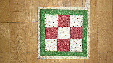 Úžitkový textil - Chňapka vianočná (červená) - 7386352_