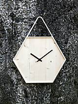 Marc Hexagon Clock - šestuholníkové visiace hodiny
