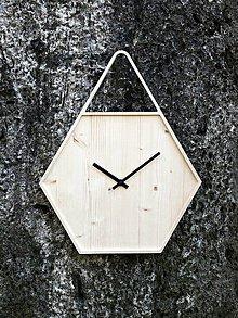 Hodiny - Marc Hexagon Clock - šestuholníkové visiace hodiny - 7386684_