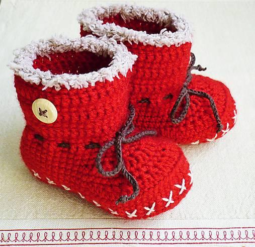Červené čižmičky   katkakolla - SAShE.sk - Handmade Topánočky 139b1fffe6a