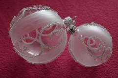 Dekorácie - Bielo-číra sada s ornamentami - 7385264_
