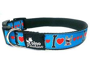 Pre zvieratká - Obojok I Love Bulldog - 7384278_
