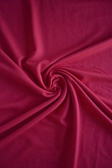 Textil - Teplákovina Micromodal elastická – červená - 7385298_
