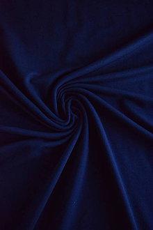 Textil - Teplákovina Micromodal elastická – tmavě modrá - 7385349_