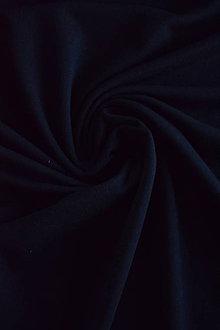 Textil - French terry Micromodal elastický – černý - 7385383_