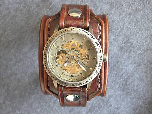 bb0a34e04 Vintage kožené hodinky hnedé / leon - SAShE.sk - Handmade Náramky