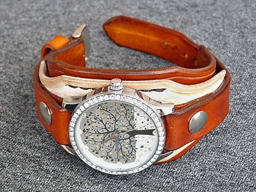 09ac974ac66 Dámske bielo hnedý remienok s hodinkami   leon - SAShE.sk - Handmade ...