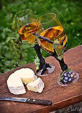 Nádoby - Viničové - sada dvoch pohárov na víno - 7385960_