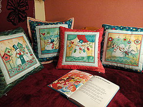 Úžitkový textil - Vankúš so snehuliakom - 7385787_