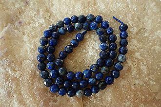 Minerály - Lapis Lazuli fazetovaný 6mm - 7386680_
