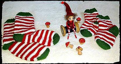 Obuv - Škritkovské vianočné ponožky - 7383857_