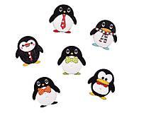 - Drevený gombík tučniačik (balíček 5ks) - 7385479_