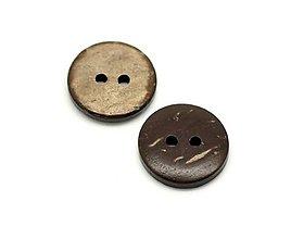 Galantéria - Kokosový gombíček 15mm - 7385431_