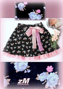 Detské oblečenie - Sukňa s mašľou. - 7384805_