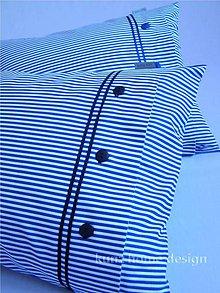 Úžitkový textil - Posteľná bielizeň PEPE navy - 7385778_