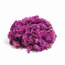 Textil - Kučeravé chumáče vlny (50 g Fuchsia) - 7383491_