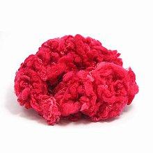 Textil - Kučeravé chumáče vlny (50 g Crimson) - 7383545_