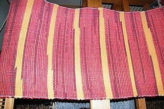 Úžitkový textil - Tkaný oranžovo-červený koberec, prikrývka na kreslo - 7383394_