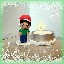 Svietidlá a sviečky - Svietniky na zákazku (chlapec) - 7383043_