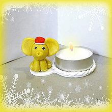 Svietidlá a sviečky - Svietniky na zákazku (sloník) - 7385093_