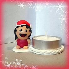 Svietidlá a sviečky - Svietniky na zákazku (tučko dievča) - 7386941_