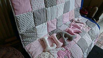 Textil - Meno na stenu - Lianka, s dekou do postieľky - 7391812_