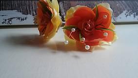Ozdoby do vlasov - orange sponky - 7391541_