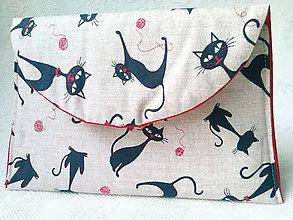 Taštičky - BonBon pochette (black cats) - 7389610_