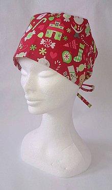 Čiapky - Vánoční operačná čiapka - 7388332_