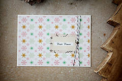Papiernictvo - Vianočná pohľadnica - snehová vločka - 7389047_