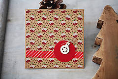 Papiernictvo - Vianočná pohľadnica - prírodná - 7389064_