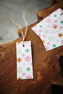 Papiernictvo - Visačky / menovky - snehová vločka - 7389032_