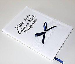 Papiernictvo - Kniha hostí s jedným radom čipky - 7387463_