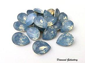 Galantéria - Ozdobné slzičky 13x18 mm - Modré - 7390787_