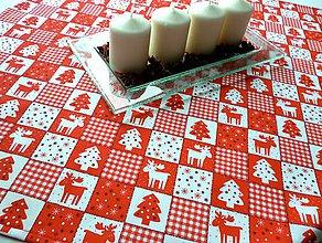 Úžitkový textil - Bývanie - Vianoce - Vianočný obrus stredový - 7390088_
