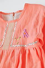 Detské oblečenie - Šaty IDA marhuľové - DOPREDAJ - 7390280_