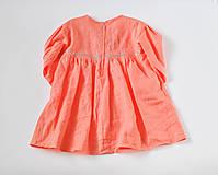Detské oblečenie - Šaty IDA marhuľové - DOPREDAJ - 7390281_