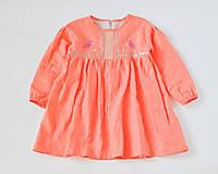 Detské oblečenie - Šaty IDA marhuľové - DOPREDAJ - 7390282_