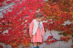 Detské oblečenie - Šaty IDA marhuľové - DOPREDAJ - 7390288_