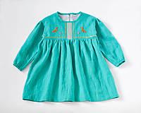 Detské oblečenie - Šaty IDA tyrkysové - DOPREDAJ - 7390314_