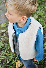 Detské oblečenie - Obojstranná merino vesta JUNO - 7390382_