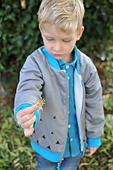 Detské oblečenie - Obojstranná bomberka VINCENT sivá - 7390476_