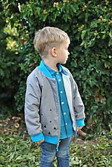 Detské oblečenie - Obojstranná bomberka VINCENT sivá - 7390477_