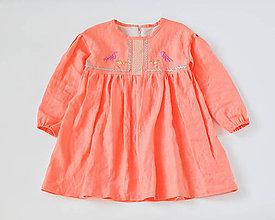 Detské oblečenie - Vyšívané šaty marhuľové - 7390282_